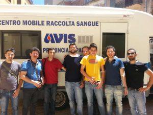 L'equipe medica dell'AVIS con alcuni membri del consiglio direttivo dell'AVIS San Mauro